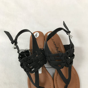 Primary Photo - BRAND:    CLOTHES MENTOR STYLE: SANDALS LOW COLOR: BLACK SIZE: 6 OTHER INFO: CROCHET - SKU: 240-24052-52536