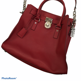 Primary Photo - BRAND: MICHAEL KORS STYLE: HANDBAG DESIGNER COLOR: RED SIZE: LARGE SKU: 240-24071-4000