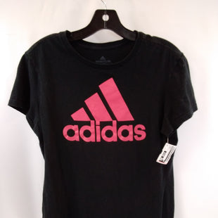 Primary Photo - BRAND: ADIDAS STYLE: ATHLETIC TOP SHORT SLEEVE COLOR: BLACK SIZE: M OTHER INFO: PINK SKU: 240-24052-57750