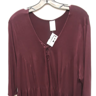Primary Photo - BRAND: TERRA & SKY STYLE: TOP LONG SLEEVE COLOR: PURPLE SIZE: 2X SKU: 240-24068-6294