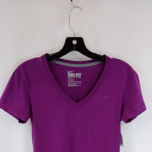 Primary Photo - BRAND: NIKE APPAREL STYLE: ATHLETIC TOP SHORT SLEEVE COLOR: PURPLE SIZE: S SKU: 240-24049-58614