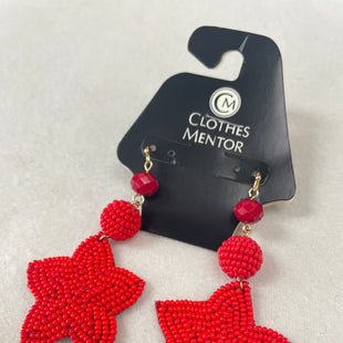 Primary Photo - BRAND:  CME STYLE: EARRINGS COLOR: RED OTHER INFO: NB - RED STAR SKU: 240-24091-5801