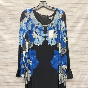 Primary Photo - BRAND: CALVIN KLEIN STYLE: DRESS SHORT LONG SLEEVE COLOR: FLORAL SIZE: 1X OTHER INFO: BLUE BLACK SKU: 240-24052-53080