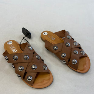 Primary Photo - BRAND: GIANNI BINI STYLE: SANDALS FLAT COLOR: BROWN SIZE: 7.5 OTHER INFO: SILVER BALL SKU: 240-24052-52849