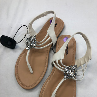 Primary Photo - BRAND: ARIZONA STYLE: SANDALS FLAT COLOR: WHITE SIZE: 8 SKU: 240-24049-51728