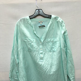 Primary Photo - BRAND: TALBOTS O STYLE: TOP LONG SLEEVE COLOR: AQUA SIZE: 1X SKU: 240-24049-51683