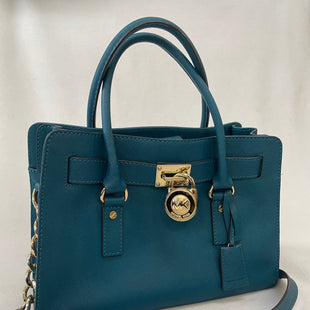 Primary Photo - BRAND: MICHAEL KORS STYLE: HANDBAG DESIGNER COLOR: TEAL SIZE: MEDIUM SKU: 240-24049-55862