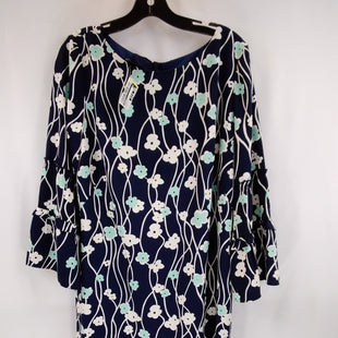 Primary Photo - BRAND: TALBOTS STYLE: DRESS SHORT LONG SLEEVE COLOR: FLOWERED SIZE: L OTHER INFO: SIZE 12- NAVY/WHITE/MINT SKU: 240-24049-57863