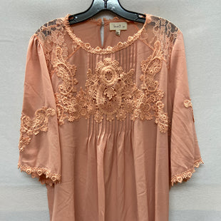 Primary Photo - BRAND: LOVE J STYLE: TOP LONG SLEEVE COLOR: PEACH SIZE: 2X SKU: 240-24049-52514
