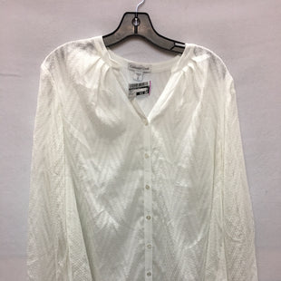 Primary Photo - BRAND: COLDWATER CREEK O STYLE: TOP LONG SLEEVE COLOR: CREAM SIZE: 1X SKU: 240-24049-51678