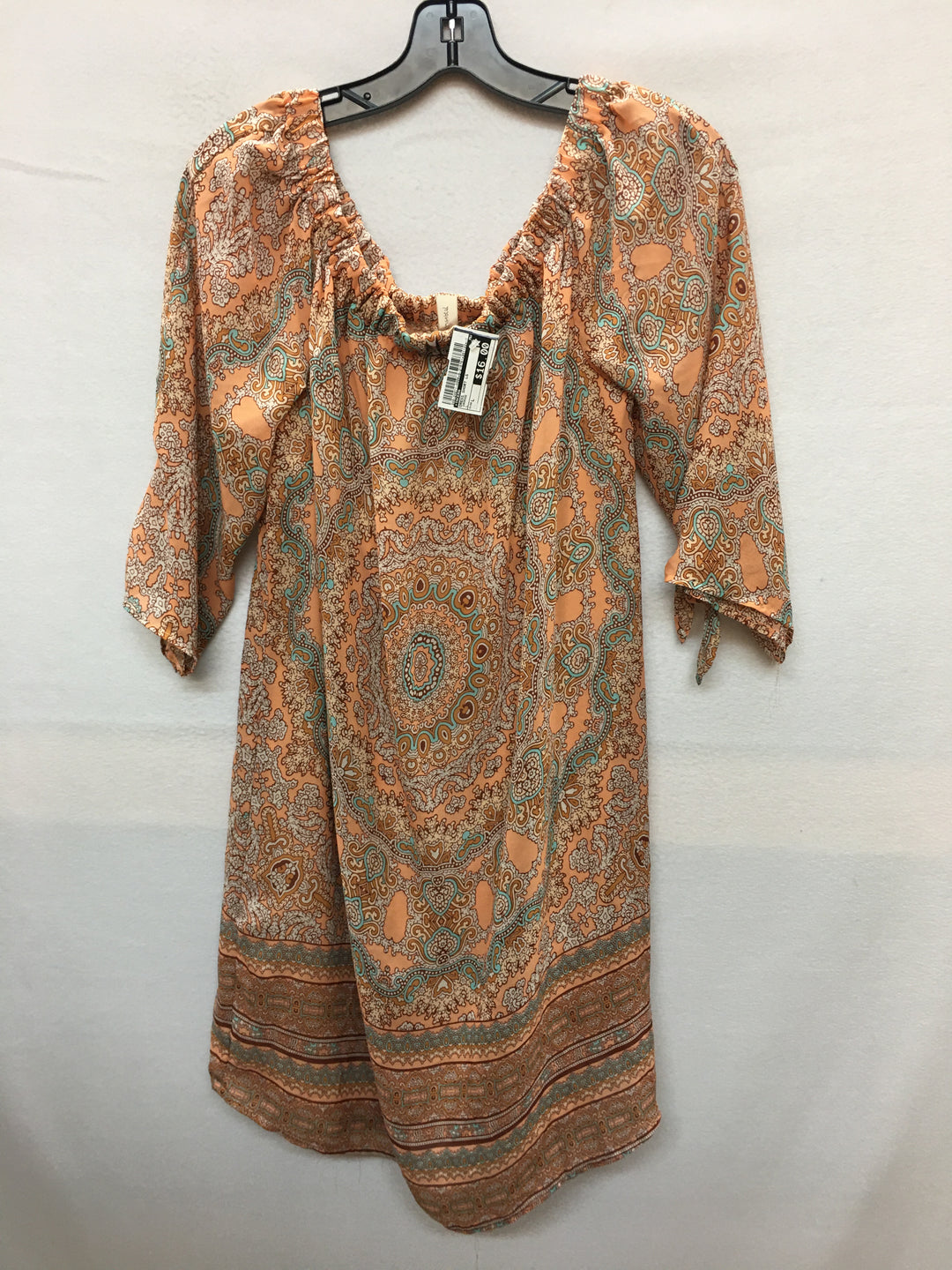 Primary Photo - BRAND: TACERA <BR>STYLE: DRESS SHORT LONG SLEEVE <BR>COLOR: ORANGE <BR>SIZE: L <BR>SKU: 240-24071-4006