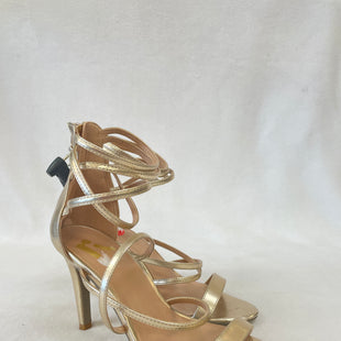 Primary Photo - BRAND:    CLOTHES MENTOR STYLE: SANDALS HIGH COLOR: GOLD SIZE: 6 OTHER INFO: NB - SKU: 240-24052-53183