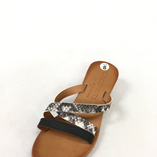 Primary Photo - BRAND: COCONUTS STYLE: SANDALS FLAT COLOR: SNAKESKIN PRINT SIZE: 8 SKU: 240-24052-53198