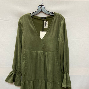 Primary Photo - BRAND: VERY J STYLE: DRESS SHORT LONG SLEEVE COLOR: OLIVE SIZE: M SKU: 240-24049-54047