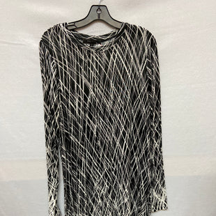 Primary Photo - BRAND: BCBGMAXAZRIA O STYLE: DRESS SHORT LONG SLEEVE COLOR: BLACK WHITE SIZE: M SKU: 240-24052-49972