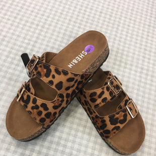 Primary Photo - BRAND: SHEIN STYLE: SANDALS FLAT COLOR: ANIMAL PRINT SIZE: 8 SKU: 240-24091-3641