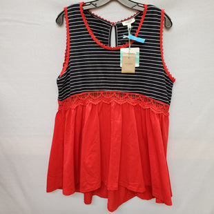 Primary Photo - BRAND: UMGEE STYLE: TOP SLEEVELESS COLOR: BLACK RED SIZE: L SKU: 240-24052-48203
