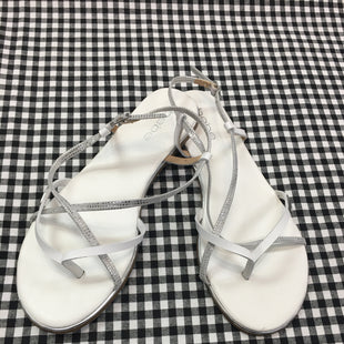 Primary Photo - BRAND: BEBE STYLE: SANDALS FLAT COLOR: WHITE SIZE: 8 SKU: 240-24083-7024