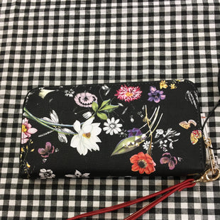 Primary Photo - BRAND:    CLOTHES MENTOR STYLE: WRISTLET COLOR: BLACK SIZE: M OTHER INFO: FLORAL AND RED SKU: 240-24068-6185
