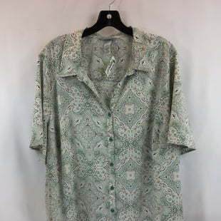 Primary Photo - BRAND: CATHERINES STYLE: TOP SHORT SLEEVE COLOR: GREEN SIZE: 2X SKU: 240-24049-57924