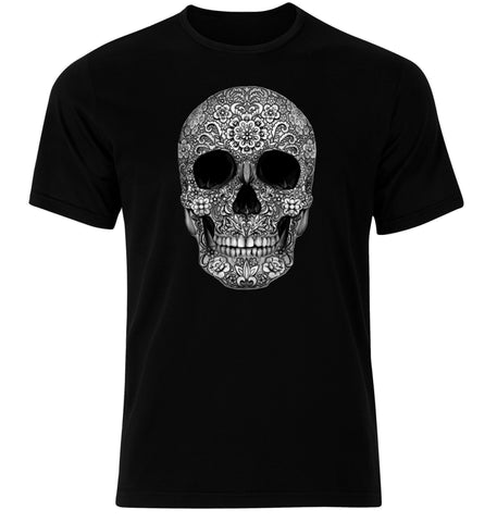 Floral Skull Black T-Shirt - Highway Thirty One