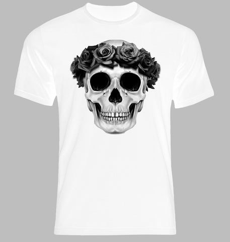Flower Skull White T-Shirt - Highway Thirty One
