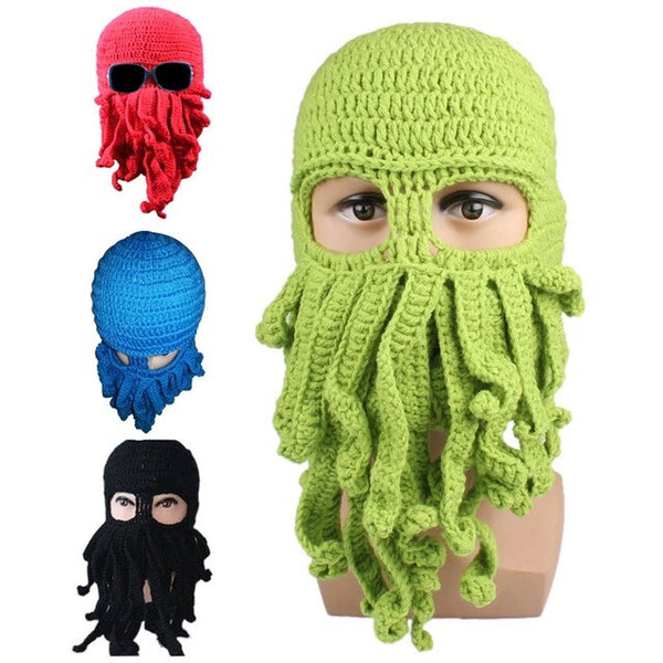 Cthulhu Tentacle Knitted Wool Ski Mask Unisex - Highway Thirty One - 1