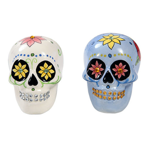 Day of the Dead Salt & Pepper Shaker with Bling - Highway Thirty One