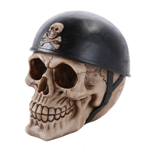 Biker Skull with Helmet - Highway Thirty One