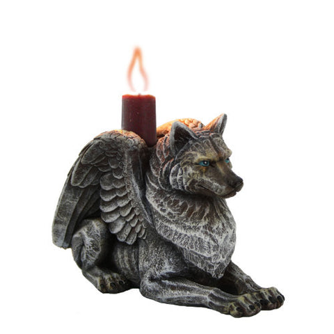 Wolf Gargoyle Candle Holder