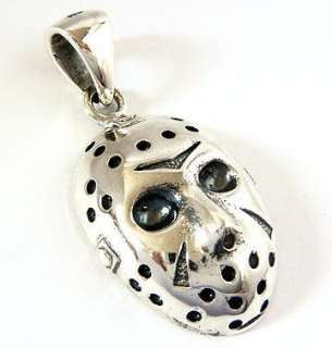 Stainless Steel Halloween Jason's Hockey Mask Necklace - Highway Thirty One