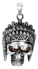 Indian Skull Pendant - Highway Thirty One