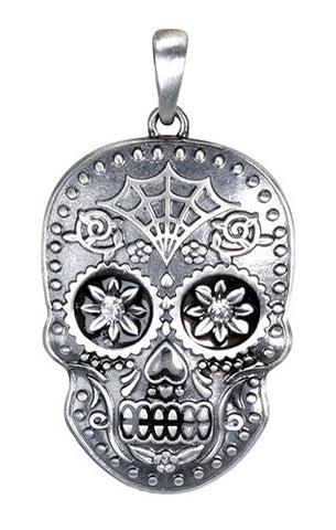 Day of the Dead Skull Pendant - Highway Thirty One