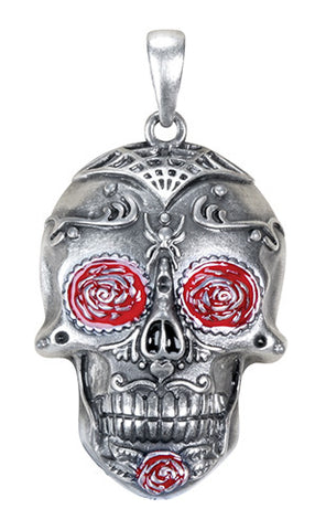 Day of the Dead Tattoo Skull Pendant - Highway Thirty One