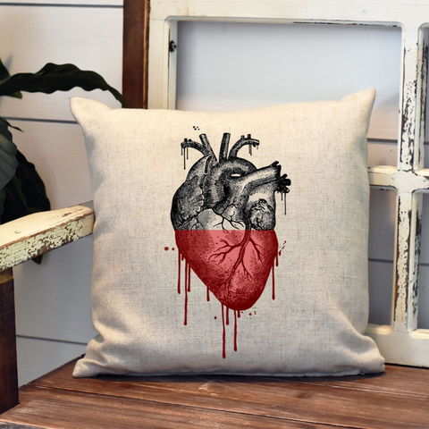 Vintage Bleeding Heart Pillow Cover