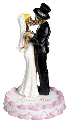 Wedding Skull Couple Cake Topper - Highway Thirty One