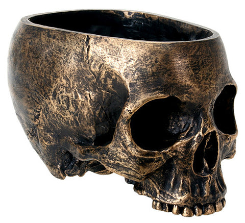 Bronze Skull Planter medium