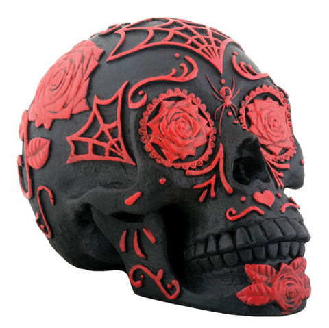 Day of the Dead - Tattoo Sugar Skull Red/Black - Highway Thirty One