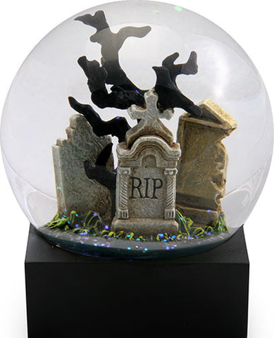 Raven in Cemetery Water Globe - Highway Thirty One