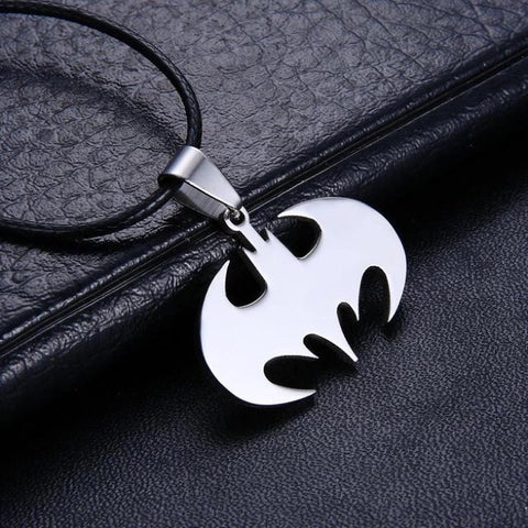 Silver Batman Necklace - Highway Thirty One