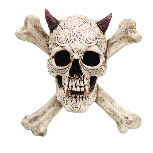 Skull N Crossbones Wall Plaque