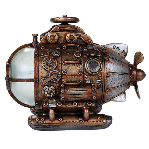 Steampunk Submarine with LED light