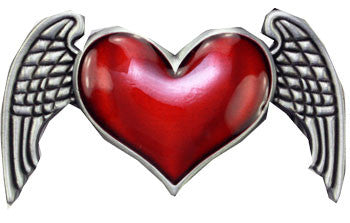 Heart With Wings Belt Buckle - Highway Thirty One