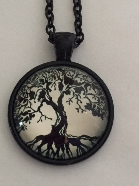 "Tree of Life 1"" Pendant with Black Chain - Highway Thirty One - 1"