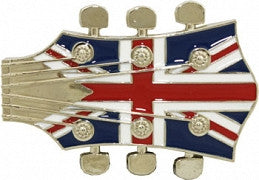 British Flag Guitar Head Belt Buckle - Highway Thirty One