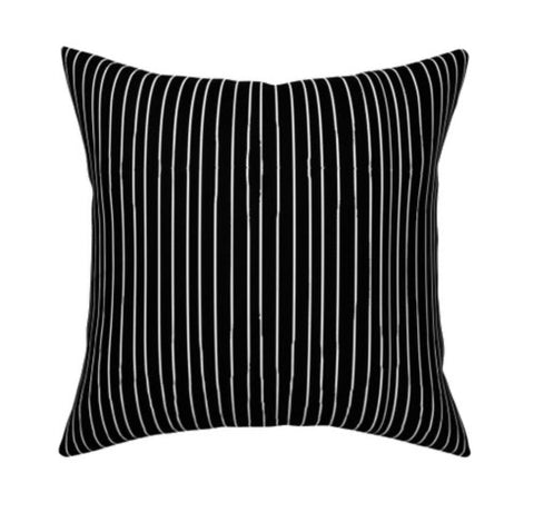Jack Skellington Stripe Nightmare Before Christmas Pillow cover 16 x 16""