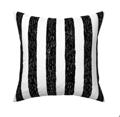 Tim Burton Stripes Pillow cover 16 x 16""