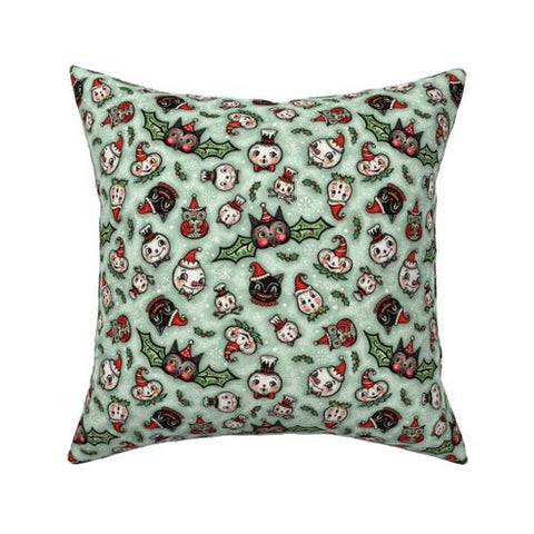 Spooky Classic Christmas Pillow 16 x 16""