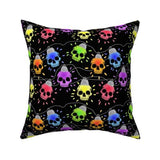 Skull Lights Christmas Pillow 16 x 16""