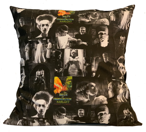 Boris Karloff's Bride of Frankenstein Pillow Cover 16 x 16""